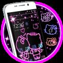 Neon Love Kitty Theme