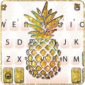 Gold Glitter Pineapple Keyboard Theme
