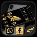 Black Gold Feather Theme