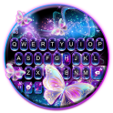 Sparkle Neon Butterfly Keyboard Theme