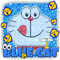 Kawaii Blue Cat Diamond Theme
