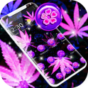 Purple Black Neon Rasta Weed Theme