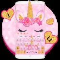 Glisten Pink Unicorn Cat Theme