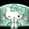 Mint Green Kitty Bowknot Theme