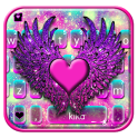 Galaxy Heart Wings Tema de teclado