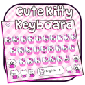 Cute Pink Kitty Keyboard Theme