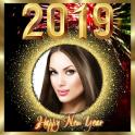 New year photo frame 2019