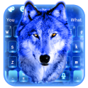 Ice wolf Blue 3D Keyboard