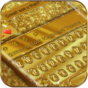 Glitter and Gold Premium Keyboard Theme