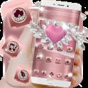 Rose Gold Heart Diamond Theme