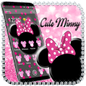 Pink Black Minny Bow Theme