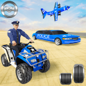 US Police Quad Bike Car Transporter Games