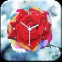 Rose Flower Clock LWP
