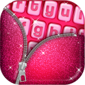 Pink Glitter Keyboard Art