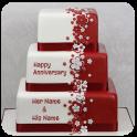 Name Photo On Anniversary Cake Photo Frame