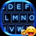 Emoji Teclado Azul de Néon
