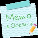 Sticky Memo Notepad *Ocean*