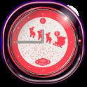 Santa Simple Clock Widget