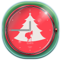 Classic Christmas Clock Widget