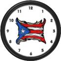 Puerto Rico FlagClock Widget