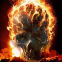 Skull In Flame Live Wallpaper