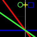 幾何学的な時計ライブ壁紙
