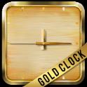 Neon Gold Square Clock
