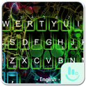 Neon Smoke Skull Keyboard