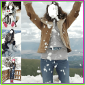 Girls Snowfall Photo Editor
