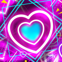 Neon Heart Lock Screen