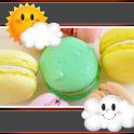 Macarons Clock And Weather