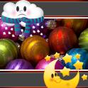Christmas Balls Weather Clock