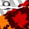 Reloj widget otoño