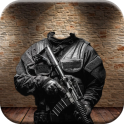 Army Fashion Suit Photo Maker