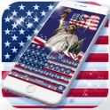 American flag Live Wallpaper Theme