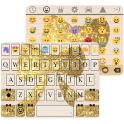 Gold Knot Emoji Keyboard Theme