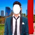 Stylish Man Suit Photo Montage