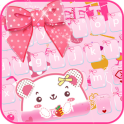 Pink Kitty Bow Keyboard Theme pink bow
