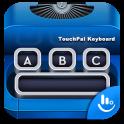 Blue Typewriter Keyboard Theme