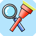 Flashing Magnifying glass - (flashlight app)