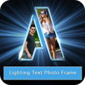 Lighting Text Photo Frame