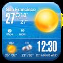 weather information time widget