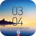 Galaxy Note8 Digital Clock Widget Pro