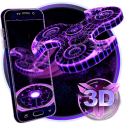 3D Fidget Spinner Neon Hologram Theme