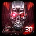 Neón Tecnología Cráneo 3D Tema