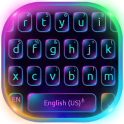 Fluorescent Neon Keyboard Theme