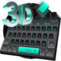 Tema de teclado negro 3D