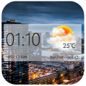 weather and clock widget