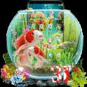 3D Aquarium Japaneses Koi Fish