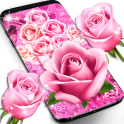 Pink rose silk live wallpaper